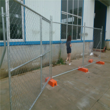 Security barrier galvanized temporary chain link fence panel