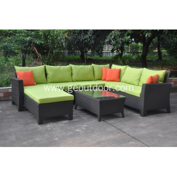 Aluminum frame green leisure sofa