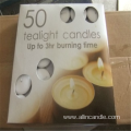 Multi-colored 50pcs Scented Tea light candle