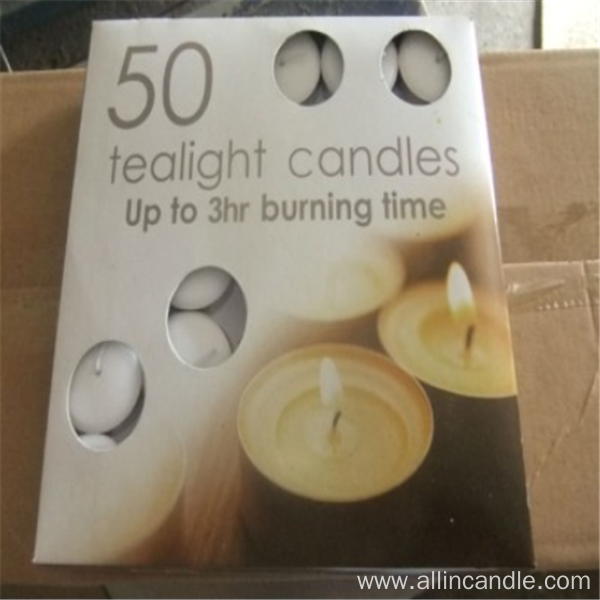 Flameless White Stick Tealight Candle