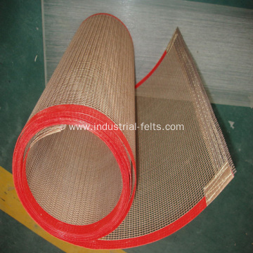 Ptfe coating fiberglass mesh acid resistance conveyor belt