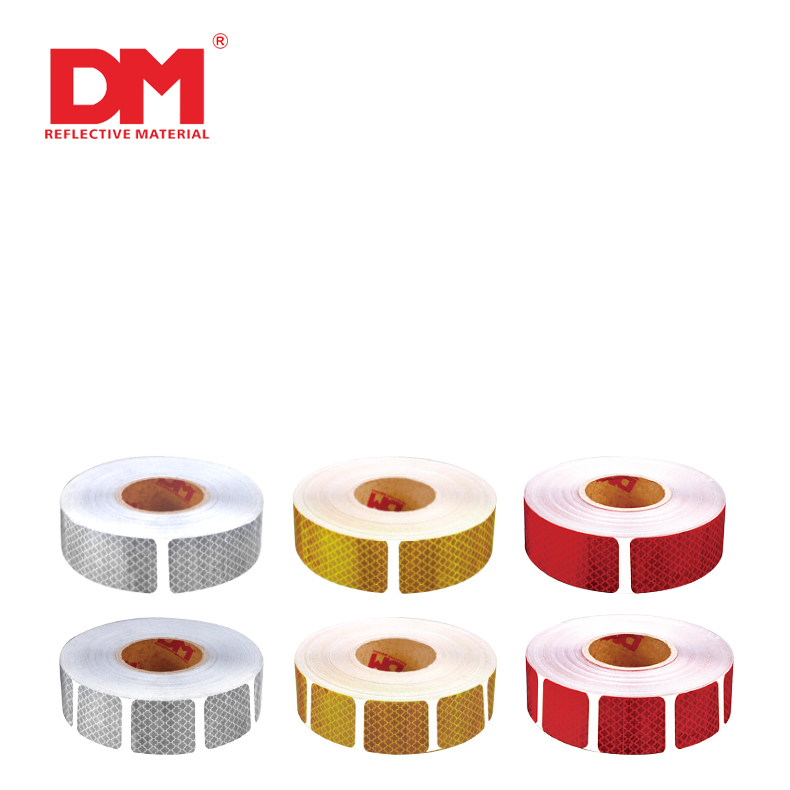 Red  Adhesive Reflective Conspicuity Tape For Vehicles For Trucks