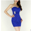 Retro temperament sexy lace bra bag hip new suit dress dress bride toast.