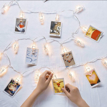 Cartes de Noël Photo Led Clip String Lights