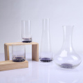Lead Free Glass Decanter And Tumbler With Beautiful Bubble Bottom