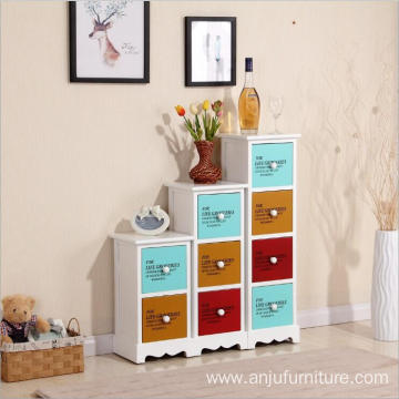 Colorful garden home furniture vintage wooden cabinet