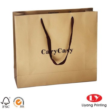 Cheap brown paper coffee bags with logo
