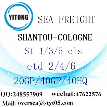 Shantou Port Sea Freight Shipping To Cologne
