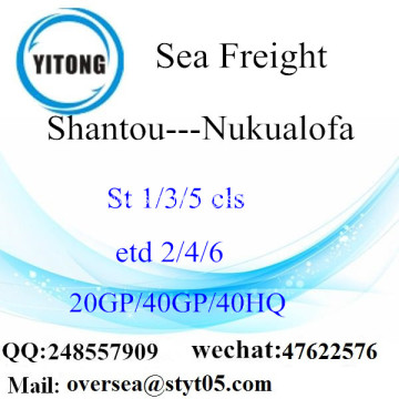 Shantou Port Sea Freight Shipping To Nukualofa