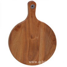 Round chopping board with handle
