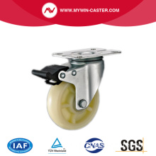 White PP Light Duty Industrial Caster