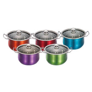 Factory Price for Cookware With Coating Outside Stainless Steel Casserole with Color Painted Outside supply to Netherlands Factories
