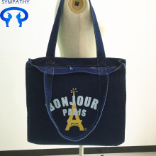 Custom denim bag shopping bags for students