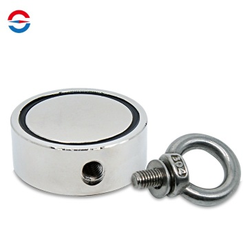 Fishing Magnet Double Sided Neodymium Magnets with Eyebolt