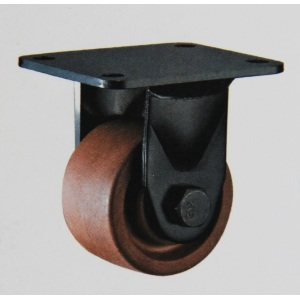 Low gravity center high temperature rigid wheel casters