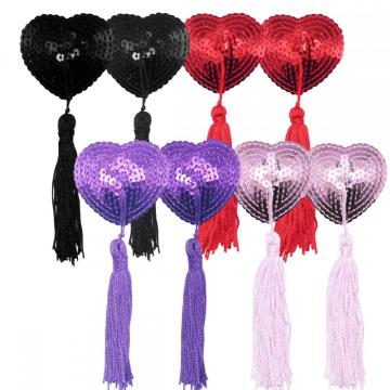 YouGa Sequin Nipple Covers Invisible Heart Pasties Bra
