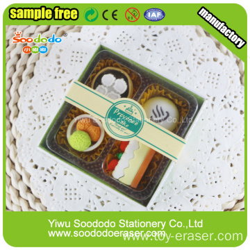 Food eraser custom wholesale stationery