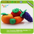 Mixed Various Fruit and Vegetable Shaped Rubber Eraser