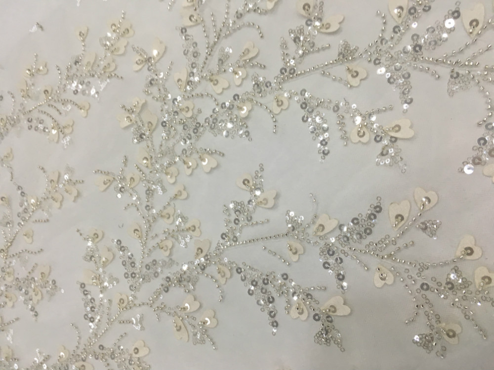 Beads Embroidery Fabric