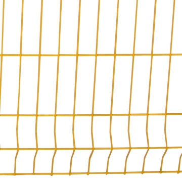 rigid wire security panel green garden wire mesh fence with v folds