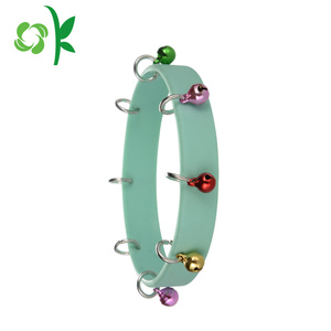 Eco-friendly Single Color Silicone Bracelets with Bell