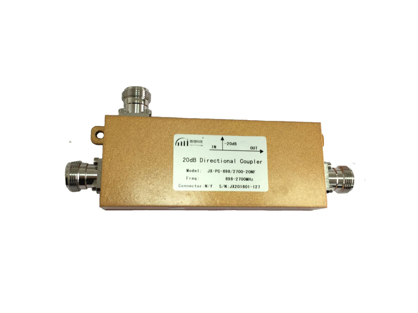 698-2700MHz 20dB Directional Coupler