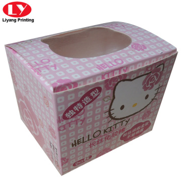 Printed paper packaging box for cosmetic cotton pads