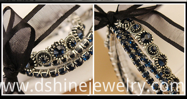 Multi Layers Shiny Rhinestone Band
