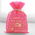 Pink Non-woven Golden Fish New Year Packaging Pouch