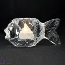 Glass Fish Shape Tealight
