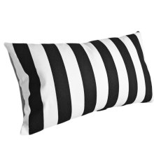 White stripe pillows with hidden zipper