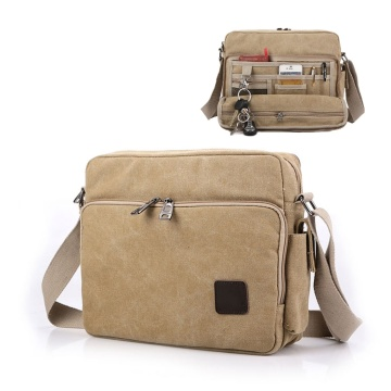 Multi-pocket Vintage Male Messenger Shoulder Crossbody Bags