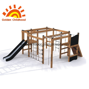 Modern outdoor play structure for small yard