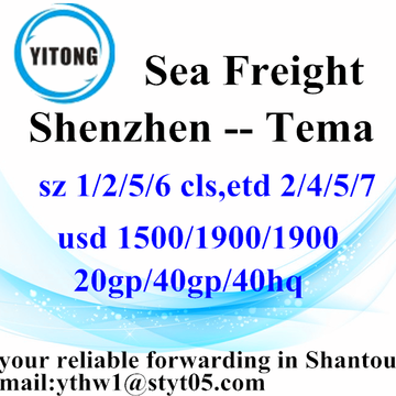 Shenzhen Sea Freight Shipping Agent to Tema