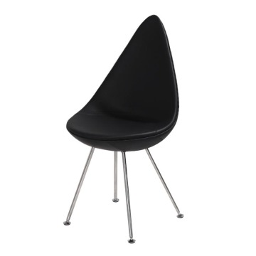Arne Jacobsen Leather Dining Chair Drop Chair Reproduction