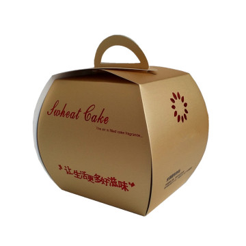 bakery cake carrier paper box with handle