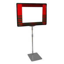 Supermarket metal sign holders with metal stands