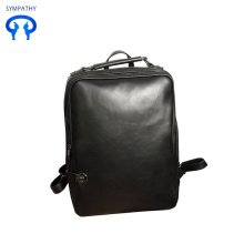 Stylish men's computer backpack waterproof leather backpack