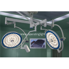 Dual lamp head led light with camera system