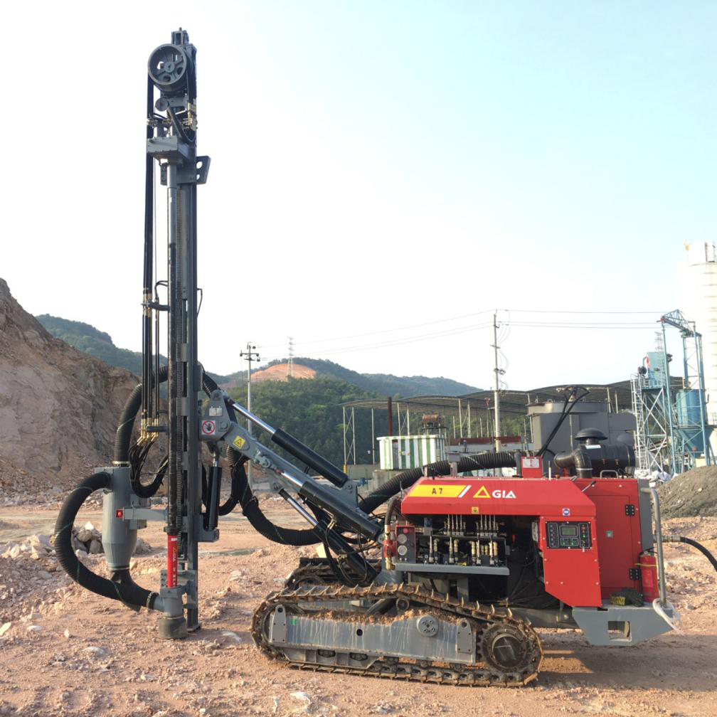 GIA A7 mining drilling rigs from atlas copco and Hongwuhuan Group