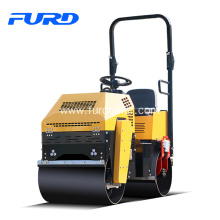 Bottom price for Diesel Road Roller Compaction Equipment 1 Ton Double Drum Vibratory Roller export to Niue Factories