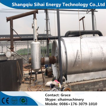 Free commissioning waste plastic refining to oil machine
