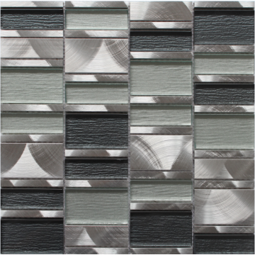 silver grey stainless steel mosaic