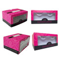 Customized Eyelash Paper Box with PVC window