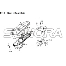 F-10 Seat Rear Grip JET 14 XS175T-2 For SYM Spare Part Top Quality