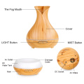 Ultrasonic White Wood Grain Vase Aroma Humidifier 400ml