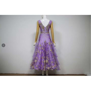 Ladies ballroom dance costumes for competition