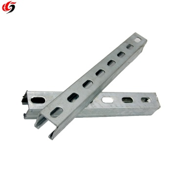 Hot Dip Galvanized Steel Slotted Strut Channel with CE SGS C Channel  Unistrut Uni Strut Channel