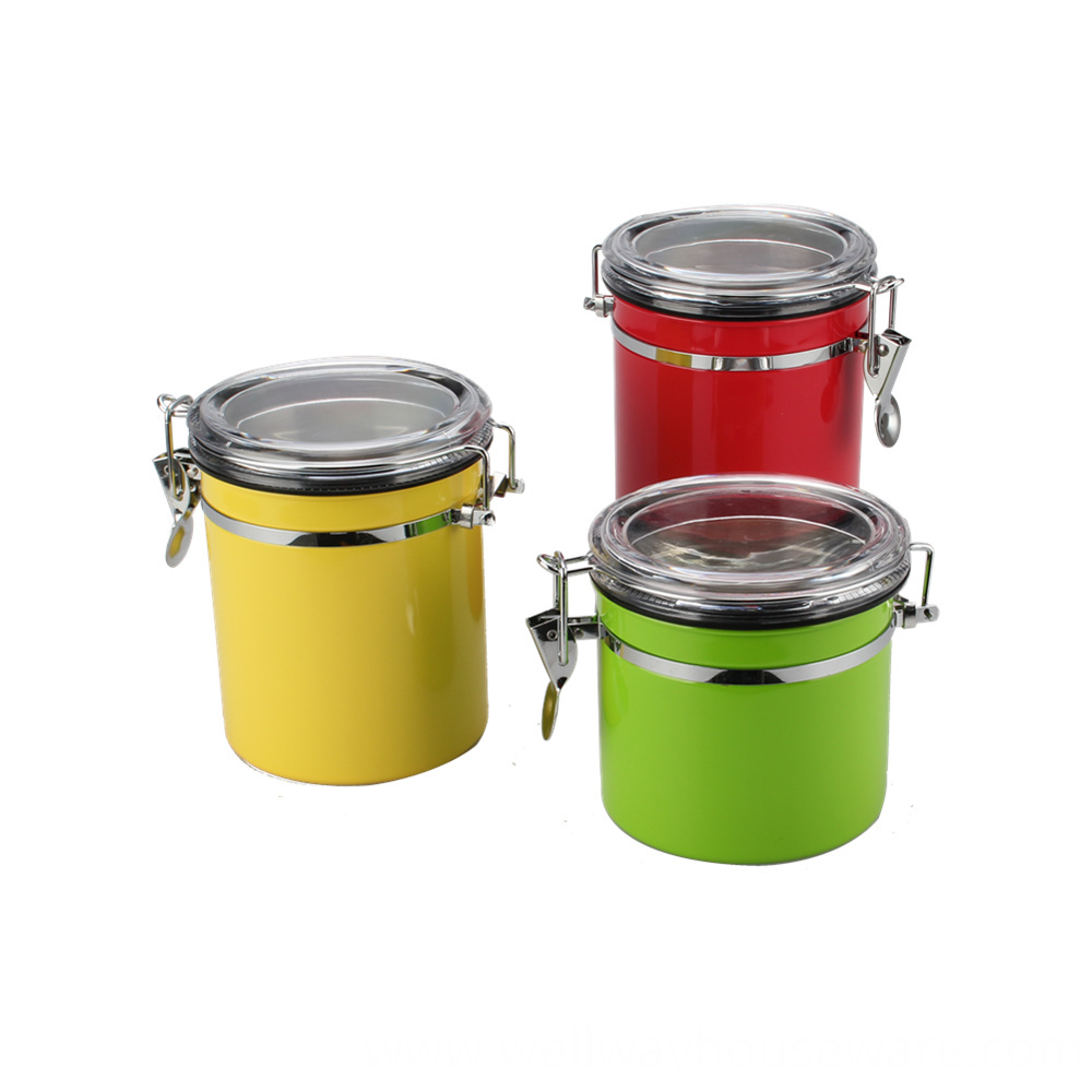 Colorful Coffee Beans Canister