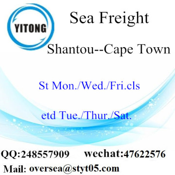 Shantou Port LCL Consolidation To Cape Town
